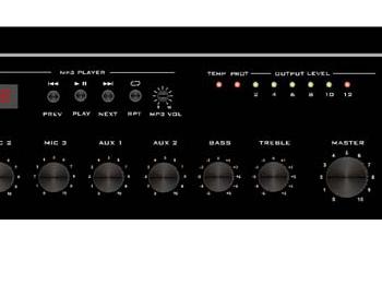 Amplificateur mélangeur MA60USB 60W  Lecteur de message & USB