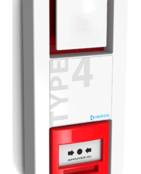 Alarme incendie type 4, catégorie E : tableau de signalisation à piles