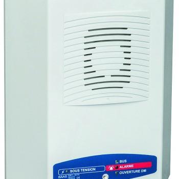 Alarme incendie type 3, catégories D,E : Bloc Autonome d'Alarme Sonore Manuel avec Flash (type Ma)