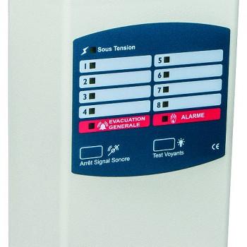 Equipement incendie type 2b, catégories C,D,E : Tableau de synthèse pour Bloc Autonome d'Alarme Sonore Principal 2, 4 ou 8 boucles