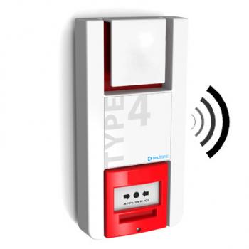 Alarme incendie type 4, catégorie E : tableau de signalisation à piles radio